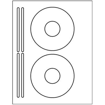 200 CD or DVD labels - 5931 template used to create - 2 CD & 4 Spine per sheet