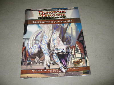D&D D20 4.0 4th Ed Encounters Lost Crown of Neverwinter