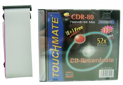 Wholesale Joblot Of 50 Mixed Touchmate Dual Ide Cables & Cd-Recordable Discs