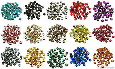 Loose Metal Studs lot of Hot Fix Iron on 6mm, 16 Colors to choose from