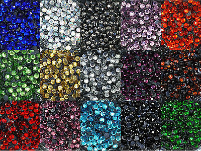 Loose Rhinestones lot of Hot Fix Iron on 4mm (SS16), 22 Colors to choose from