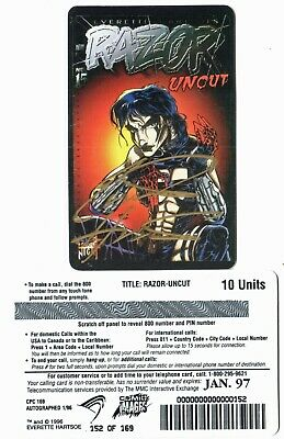 "Razor ""Uncut"" phone card - signed version [limited to 169 cards]"