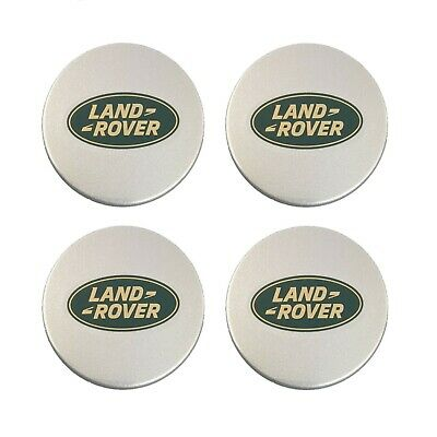 Land Range Rover Green Oval Badge Wheel Center Hub Caps Genuine Set of 4 NEW