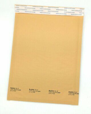 "50 #2 (8.5""x12"") Kraft Bubble Lined Mailer Envelopes Self Seal Free Shipping"