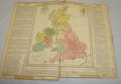 1820 HISTORICAL MAP OF THE BRITISH EMPIRE/Hand Colored