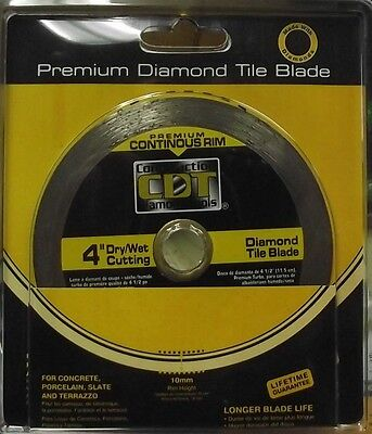 "Construction Diamond 92104020 4"" Premium Continuous Rim Diamond Saw Blade"