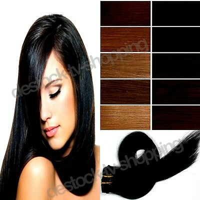 Extensions De Cheveux A Clip 100% Naturel Rémy Hair 46 Cm ,8 Bandes, 18 Clips