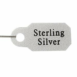 300 Sterling Silver JEWELRY TAG Metallic Plastic~String Blank one side for Price