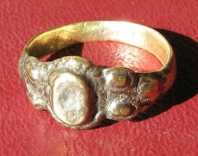 Authentic Ancient Artifact > Metal Detector Find FINGER RING 9 US >19mm  7869 DR