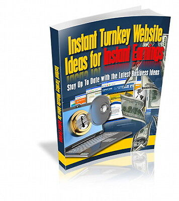 Instant Turnkey Website Ideas For More Money, Latest Tips and Business Ideas (CD