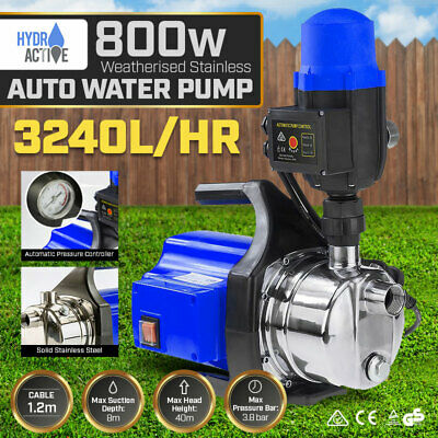 PUMP WEATHERISED 800w RAIN WATER TANK AUTO PRESSURE ELECTRIC GARDEN IRRIGATION