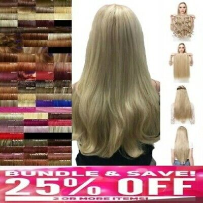 """24"""" ONE PIECE CLIP IN HAIR EXTENSION Clip in Fringe feels like own real hair"""