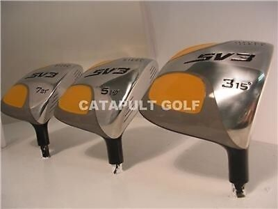 New Yellow Square #3 #5 #7 Fairway Wood Golf Head Components High Moi Woods 712