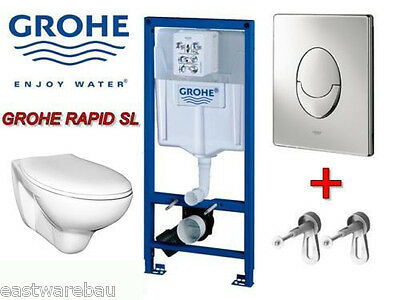 grohe vorwandelement wand wc komplettset mit bet tigung skate air weiss chrom eur 199 00. Black Bedroom Furniture Sets. Home Design Ideas