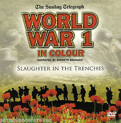 WORLD WAR 1 IN COLOUR: SLAUGHTER IN THE TRENCHES (Sunday Telegraph R2 DVD)