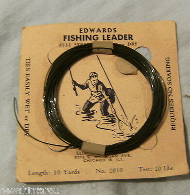 Edwards Brand Usa Synthetic Fly Fishing Leader -  20 Lbs, 10 Yds