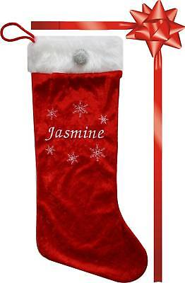 PERSONALISED CHRISTMAS SANTA STOCKING-Made in UK