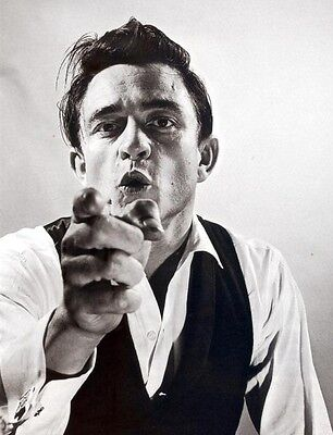 "Johnny Cash ""wild"" 8X10 Music Photo Great Shot - Picture"