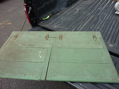PRIMITIVE green FURNITURE wooden BOX top salvaged piece 53.5 x 28.75 x 1 1/8""