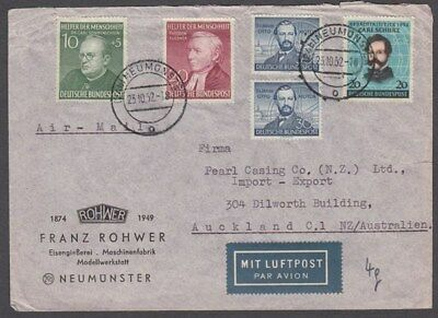 West Germany 1952 Cover To New Zealand