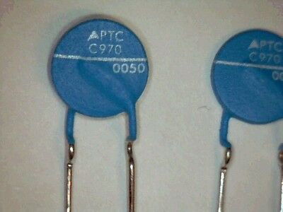5x PTC EPCOS C970-C120 63V 9R4 120°C Thermistor Overcurrent Protection