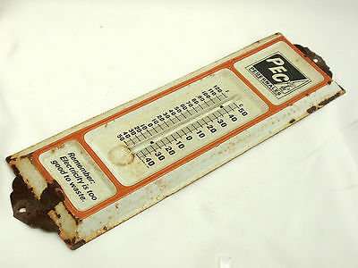 PEC ELECTRIC COOP Vintage Thermometer Big Metal Advertise Sign - FREE SHIP