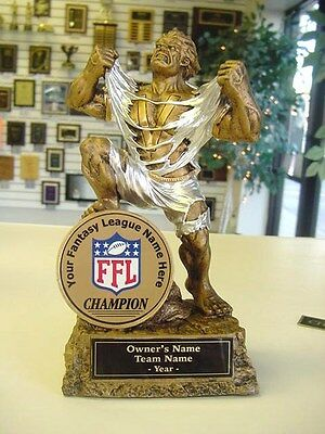Fantasy Football Individual Monster Trophy Cool Color Ffl Logo Awesome!