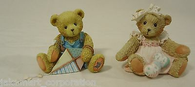 Cherished Teddies SR7 839 Baby 3P0 967 Figurine Qty 2 Ceramic