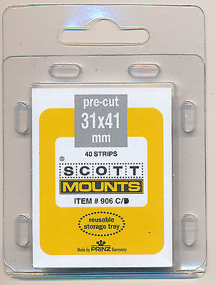 Prinz Scott Stamp Mounts Size 31/41 CLEAR Pack of 40