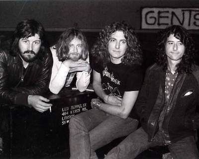 1975 Led Zeppelin 8X10 Glossy Rock Band Photo Rare!