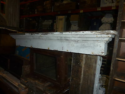 c1860 square box style WINDOW pediment VICTORIAN lintel ~ header 53 x 6 x 6.5""