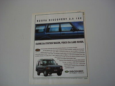 advertising Pubblicità 1993 LAND ROVER DISCOVERY 2.0
