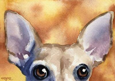 CHIHUAHUA Painting Watercolor 8 x 10 ART Print Signed DJR