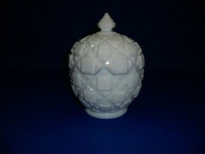 Westmoreland Old Quilt Covered Candy Dish