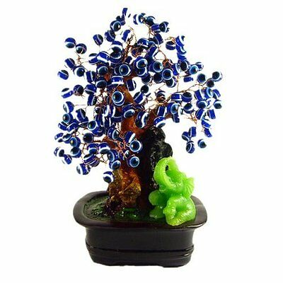 "An Artificial Money Tree -7"" Tall with Evil Eyes for Feng Shui and Gifts"