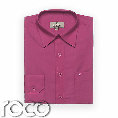 Boys Cerise Shirt, Childrens Shirts, Kids Shirts, Formal Shirts, Dress Shirts