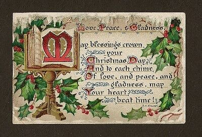 Raphael Tuck and Sons' Yuletide #104 Christmas Postcard S. K. Cowan poem 1908