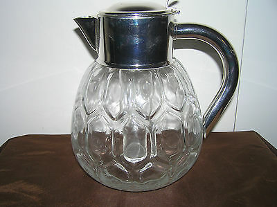 Vintage Glass Water Jug With Cooling System.