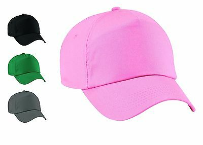 Ladies Classic Plain Adjustable Baseball Caps - WORK CASUAL SPORTS LEISURE