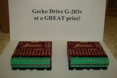 TWO CNC Geckodrive G-203V ONE YEAR FACTORY WARRANTY steppr motor Driver W/EXTRAS
