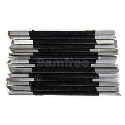 15pcs Steel Stone Carving Chisels Tools Set Hobby Craft