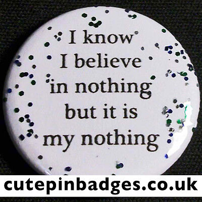 "Manic Street Preachers 'I Know I Believe In Nothing' Badge (25mm/1"") Pin Button"