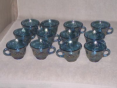 Indiana Blue Carnival Glass 2 Punch Cups - multiples available