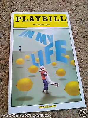 IN MY LIFE Broadway Playbill