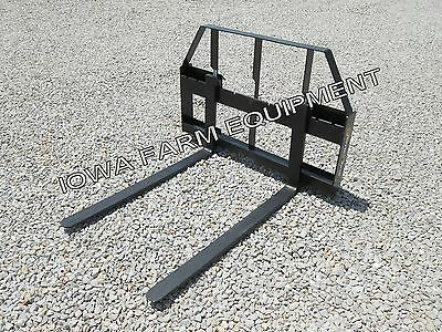 "Pallet Forks, Skidsteer Quick Attach: 42"",2000lb, Dual Rail Style"