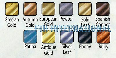 10 Amaco Rub 'N Buff Wax Metallic Finish for Crafts etc ~ Your Choice of Colors