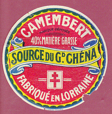 ETIQUETTE FROMAGE - CAMEMBERT - Source du Gd Chéna