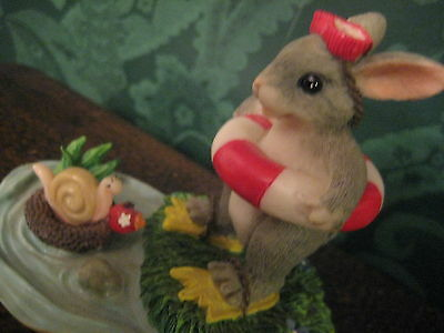 """Fitz & Floyd Charming Tails """"Come On In..The Water's Fine"""" Little Mouse Figurine"""