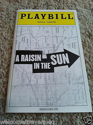 A RAISIN IN THE SUN Sean Diddy Combs opening night Broadway playbill 4/26/04