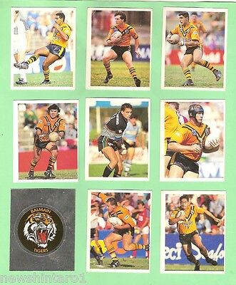 1993 Select Rugby League  Stickers  - Balmain Tigers